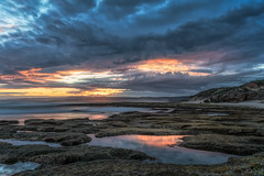 Love From Above DSC_8733 (BlueberryAsh) Tags: fffplus nov2018 torquay beach point roadknight seascape ocean water cloudsstormssunsetssunrises sunset reef rocks seasweed nikond750 nikon24120 longexposure
