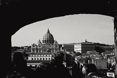 San Pietro vista da Castel Sant'Angelo (mirtasantarelli) Tags: sanpietro basilica chiesa monumento monument arte art paesaggio biancoenero blackandwhite roma rome italia italy canon750d canon