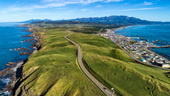 road (MakiEni777) Tags: road drone hokkaido nature sea ocean japan