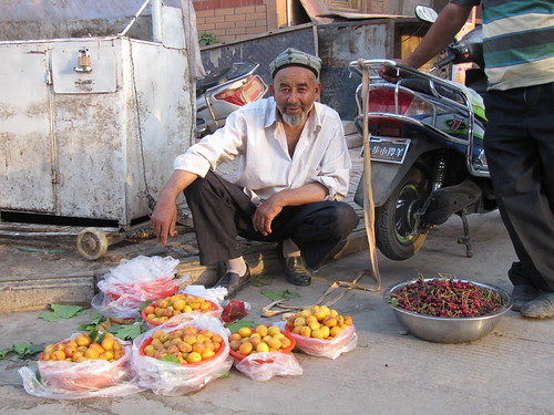 Fruitseller, Kashgar, Xinjiang, China