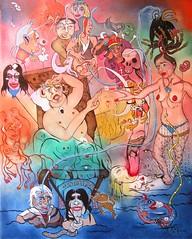 LA MORT (Claude Bolduc) Tags: artsingulier outsiderart visionaryart intuitiveart artbrut lowbrow death tarot surrealism autodidactet selftaughartist painting arthorsnorme artmarginal fantasticart artcollector