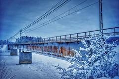 Järnvägsbron 20181223 (johan.bergenstrahle) Tags: 2018 älv architecture arkitektur aurorahdr bridge bro captureone december finepicsse hdr morgon morning sverige sweden umeälv umeriver vännäs vinter winter