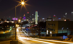 Top of the Hill (KC Mike Day) Tags: kcmo city kansas missouri memorial liberty one war world cityscape kc downtown lights building trails car expsoure long park valley penn