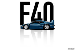 Ferrari F40 (Richard.Le) Tags: ferrari f40 blue lemans classic super car rare exotic expensive graphic art digital design photoshop rendering popular transportation richard le commercial automotive photography flickr hashtag tag explore like follow sony images a7rii