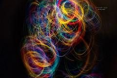 painted ... without brushes (mariola aga) Tags: fisheye longexposure xmaslights dark night panning pastel rainbow colors