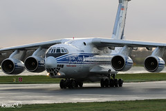 Volga-Dnepr Airlines Ilyushin Il-76TD-90VD (RA-76950) Taxiing After Just Arriving At Manchester From Gran Canaria (LPA) (KianL Aviation Photography) Tags: aviation avgeek aircraft airplane airlines airways aviationphotography soviet russia ilyushin il76 canon cargo photography planes planegeek passenger volgadnepr manchester man copenhagen grancanaria ra76950