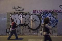 . (Le Cercle Rouge) Tags: paris france night nuit lachapelle people humans painters graffitis 75018