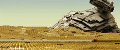 JAKKU GRAVEYARD (kyle.jannin) Tags: lego legostarwars starwars theforceawakens legostarwarstheforceawakens starwarstheforceawakens episode7 episodevii jakku star destroyer desert rey speeder