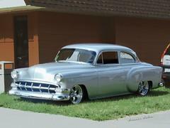 Silver Sedan Street Rod (novice09) Tags: backtothefifties carshow chevrolet 1954 customized streetrod ipiccy