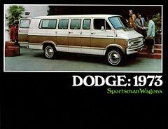 1973 Dodge Sportsman Wagons (aldenjewell) Tags: 1973 dodge sportsman wagons van brochure