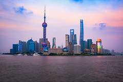 China Shanghai city skyline at dusk, Shanghai China (Patrick Foto ;)) Tags: architecture asia attraction beautiful building business central china chinese city cityscape copyspace district downtown dusk evening famous finance financial highrise huangpu landmark light lujiazui metropolis modern morning night office oriental panorama pearl pudong reflection river scene shanghai sky skyline skyscraper tall tourism tower travel twilight urban view water waterfront cn