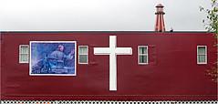 Truck driver chapel, Greencastle, Pennsylvania (Small Creatures) Tags: anamorphic cinemascope d60 greencastle truckingministries iscorama isco nikkorh85mm nikond60 nikon route81 chapel widescreen lighthouse