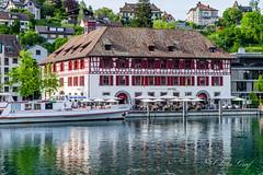 Schaffhausen (olle.graf) Tags: 2018 olle boat fluss fujifilm may rhein river schaffhausen schiff schweiz switzerland wasser water xe2 feuerthalen zürich ch