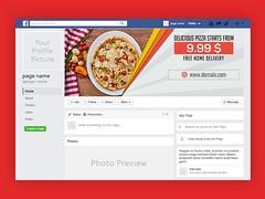 Fast Food or Restaurant Facebook Timeline  Cover Photo Design (snap_shiblu) Tags: