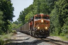Nasty Hot Coal Train (conrail6809) Tags: bnsf bnsfrailway ge es44ac gees44ac gevo csx n800 train trains coaltrain fennville fennvillemi michigan railfan railfanning locomotive