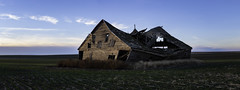 Under Pressure (Flint Roads) Tags: usa wa washington abandoned barn blue bluesky clouds decay deteriorated field forsaken green old rural