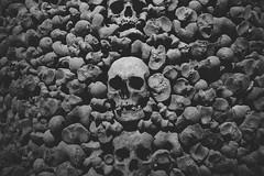 Bones (Arttu Ekholm) Tags: bones brno wall ossuary skull bw czechia grave travel