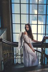Stairway to Heaven (Patrick Scheuch Photography) Tags: model modeling female weiblich woman fotoshooting fotoshoot photoshooting photoshoot photosession fotosession augsburg kurhaus göggingen portrait porträt peoplefotografie bokeh engel angel flügel beauty canon bayern indoor shooting