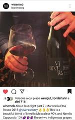 Thanks... @winemob  #Martinella #Etna #Dop #Nerello #Mascalese #Cappuccio  #Vivera #Etna and #Sicily #organic #wines #Italy  #Linguaglossa  ✉️ info@vivera.it 🌏 vivera.it  #cantine #vulcano #etnawine #etnaland #etnaDOC #winelover #vineya (e.vivera) Tags: etna dop mascalese etnaland etnawine linguaglossa vulcano cantinaetna vivera cappuccio cantine winelover nerello sicily vineyard wines etnadoc italy organic martinella