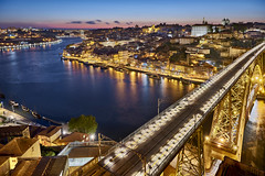 Porto - Portugal (Joao Eduardo Figueiredo) Tags: porto portugal ribeira gaia bridge port rio douro nikon nikond810 joaofigueiredo joaoeduardofigueiredo água sunset water arrábida ponte