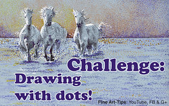 Challenge: Drawing With Dots - Horses With Pointillism (fineart-tips) Tags: art drawing finearttips pointillism horses dots challenge tutorial artistleonardo leonardopereznieto patreon tutto3