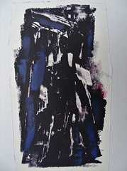 An unexpected visitor (drager meurtant) Tags: graphics monoprint grafiek dragermeurtant abstractfigurative monotype