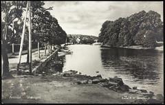 Postkort fra Arendal (Avtrykket) Tags: alle brygge elv postkort vassdrag vei arendal austagder norway