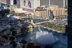 Las Vegas Strip & Bellagio Fountains (from Vdara Hotel)