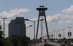 UFO Bridge Bratislava Slovakia (1) (Ann Collier Wildlife & General Photographer) Tags: ufobridge bridgeoftheslovaknationaluprising bratislava slovakia bridge building