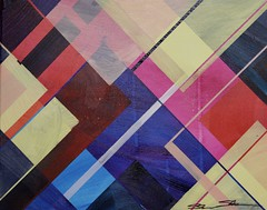 Yellow Jackets Sting Macaroni (therealshawnshawn) Tags: yellow jackets gilets juanes paris fuel tax protests climate control shawnshawn architectural abstraction geometric art painting 2018