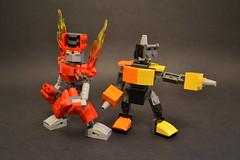 Torch Man and Impact Man (PlasticPauper) Tags: lego megaman mega man robot master moc