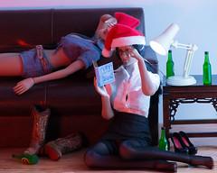 2018 Phicen/TBLeague Advent Calendar - Day 22 (edwicks_toybox) Tags: 16scale tbleague cowboyboots cowgirl eyeglasses femaleactionfigure flirtygirl lieselvanhelsing magiccube phicen santahat seamlessbody sexylibrarian stormytempest zytoys