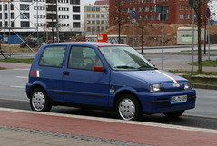 Cinquecento (Schwanzus_Longus) Tags: bremen überseestadt german germany italy italian modern car vehicle compact hatchback fiat 500 cinquecento