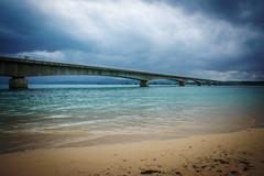 Bridge, Okinawa, Japan (Peter Schneiter) Tags: traveljapan beach coast coastal water bridge crossing river island
