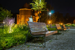 Ostrów Tumski, Wrocław (georgewroc) Tags: wroclaw wrocław polska poland polen pologne europa europe eu slask śląsk dolnyśląsk dolnyslask lowersilesia panasonic lumix gx8 mft m43 outdoor night evening wieczór noc miasto city ławka bench micro43