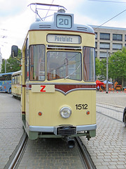 Dresden - Canaletto Stadtfest, alte Straßenbahn (www.nbfotos.de) Tags: dresden canaletto stadtfest postplatz strasenbahn tram