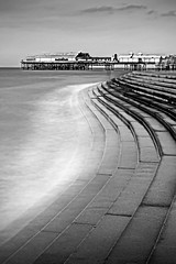071 Blackpool Pier (georgestanden) Tags: blackandwhite black white monochrome desaturated photo photography photograph bnw art picture photooftheday blackandwhitephotography bw monoart blackwhite blackpool lancashire pier longexposure victorian water sea steps blurred promenade sky clouds seascape park rides fairground