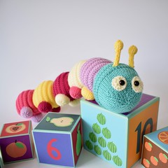 Happy Caterpillar (Knitting patterns by Amanda Berry) Tags: caterpillar caterpillars insects insect toy toys draught excluder excluders knits knit knitted knitter knitting pattern patterns happy lets get crafting crafts crafter handmade hand ravelry amanda berry fluff fuzz paintbox yarns yarn wool rainbow colours