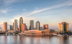 Tampa Skyline (ap0013) Tags: florida fl fla tampa tampaflorida skyline city cityscape water reflection sun sunset