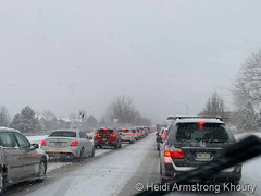January 28, 2019 - The snow snarls traffic. (Heidi Armstrong Khoury)
