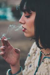Smoke and Mirrors (koskaram) Tags: thessaloniki θεσσαλονίκη macedonia μακεδονία portrait πορτραίτο smoke smoking