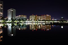 Another long exposure shot of Downtown West Palm Beach. (g_4life101) Tags: sony a7ii a7m2 sel2870 alpha emount longexposure night downtown westpalmbeach southflorida florida skyline water mirrorless