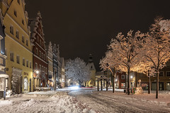 Frosty night (the-father) Tags: night snow winter frost downtown unterermarkt tree track light weiden upperpalatinate oberpfalz bavaria germany