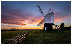 Wrawby Post Mill (Mark Lindstrom) Tags: wrawby lincolnshire panasonicleica88 olympusem1mk2 postmill windmill microfourthirds landscape sunset