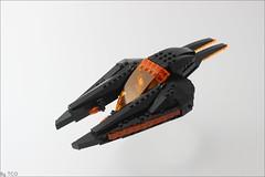 Bounty hunter pursuit (...The Chosen One...) Tags: lego moc gridwars tron star wars ship bounty hunter basicallydoingshipsnow