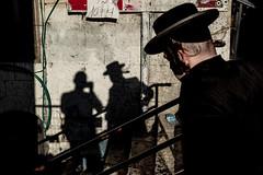 Self Portrait with Shadow-DSC_8742 (thomschphotography3) Tags: israel jerusalem meashearim shadows light colours jew jewish ultraorthodox man selfportrait streetphotography