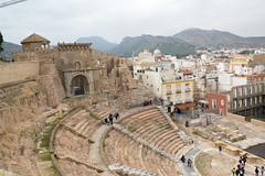 Amphitheratre Cartegena (mikeevans12) Tags: carthage cartagena amphitheater rooftops view history roman ruin culture