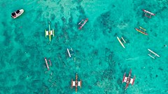 Oahu Canoes (Corey Rothwell) Tags: hawaii canoe ocean sunset drone