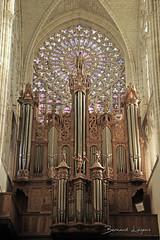 Tours, cathédrale Saint Gatien ([ ͆ ◎] Bernard LIÉGEOIS) Tags: france régioncentrevaldeloire touraine indreetloire tours valdeloire loirevalley valléedelaloire cathédrale cathedral rosace orgue organ
