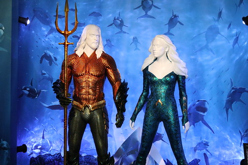 "Aquaman and Mera costumes from Aquaman (2018) • <a style=""font-size:0.8em;"" href=""http://www.flickr.com/photos/28558260@N04/31252066357/"" target=""_blank"">View on Flickr</a>"